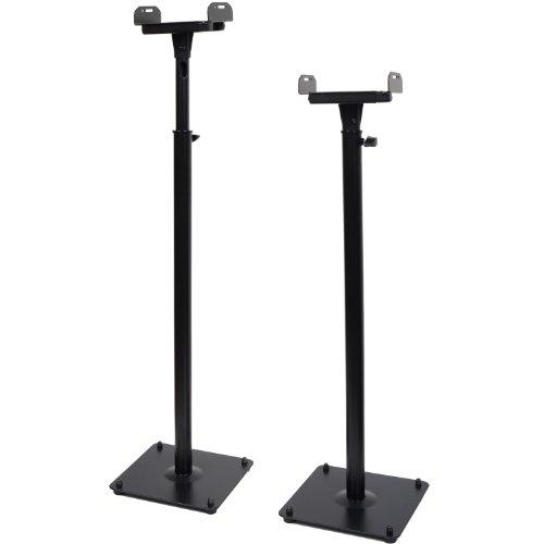VideoSecu 2 PA DJ Club Satellite Adjustable Height Speaker B
