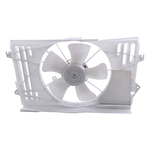 - ECCPP Radiator Condenser Cooling Fan Assembly Replacement fit for 2003 2004 2005 2006 2007 2008 Pontiac Vibe Toyota Corolla/Matrix TO3115125