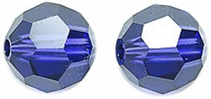 Velvet Round Beads - SWAROVSKI ELEMENTS Swarovski #5000 Faceted Round Beads, Transparent Finish, 8mm, Purple Velvet, 6-Pack
