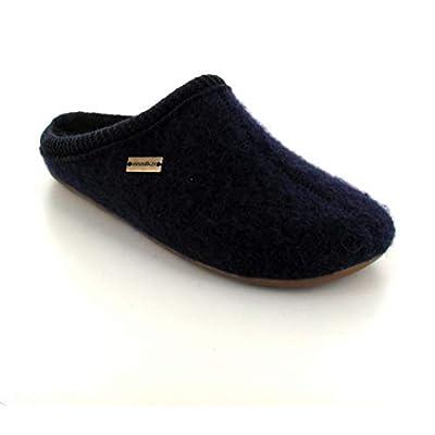 Haflinger Boiled Wool Slipper | Dakota Dynamic, Dark Blue | Slippers