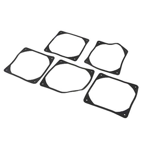 Fan Gasket (Homyl 5 Pieces 80mm PC Computer Case Fan Soft Silicon Fan Shock Absorption Gasket)