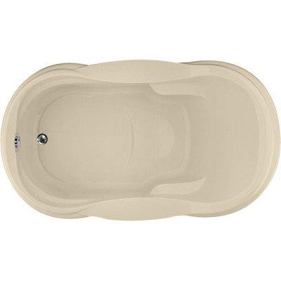 Designer vanessa soaking bathtub almond for Bathtub material comparison