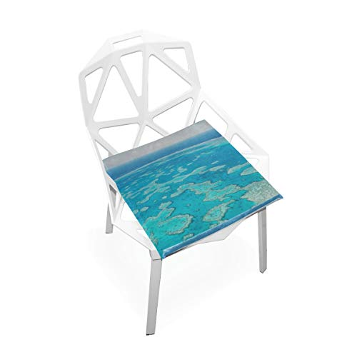 Gednix Australia Great Barrier Reef Coral Custom Soft Non-Slip Square Memory Foam Chair Pads Cushions Seat for Home Kitchen Dining Room Office Wheelchair Desk Furniture Indoor 16x16 Inch (Cheap Online Outdoor Australia Furniture)