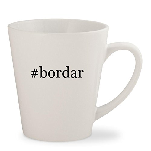 #bordar - White Hashtag 12oz Ceramic Latte Mug Cup
