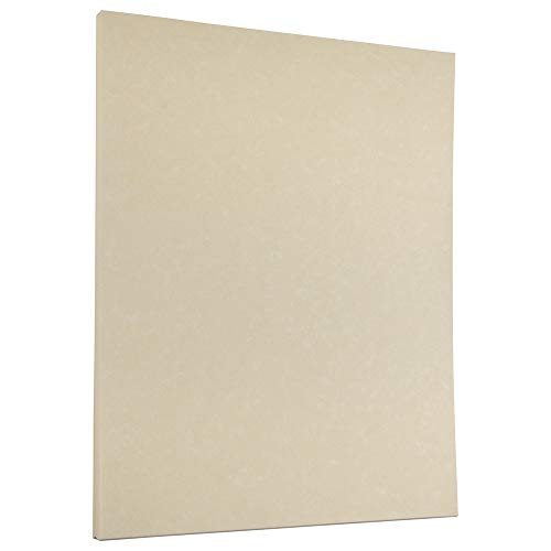JAM PAPER Parchment 24lb Paper - 8.5 x 11 - Natural Recycled - 100 Sheets/Pack ()