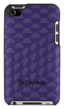 Speck Products SPK-A0117 Fitted Hard Case with Fabric for iPod Touch 4G - SpexyHexy Purple (Ipod Touch 4g Speck Case)