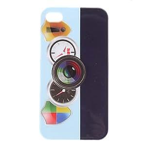 TY- Reloj Patrón protector duro caso para iPhone 4/4S