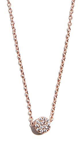 Gorjana Charm - gorjana Women's Pristine Shimmer Charm Adjustable Necklace, Rose Gold, One Size