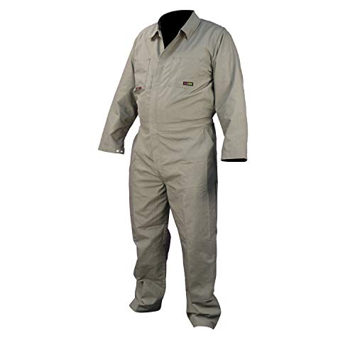 Radians FRCAT-002K-4X Tall 100% Cotton 7 oz. Flame Resistant Coverall, Khaki, 4X-Large