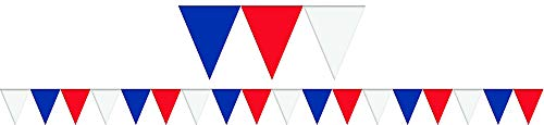 Amscan Festive Plastic Large Outdoor Pennant Banner, 120'