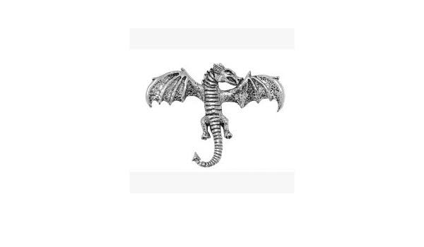 Estaño Dragón Insignia o prendedor regalo para Bufanda, corbata ...