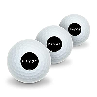 GRAPHICS & MORE Friends Pivot Novelty Golf Balls 3 Pack