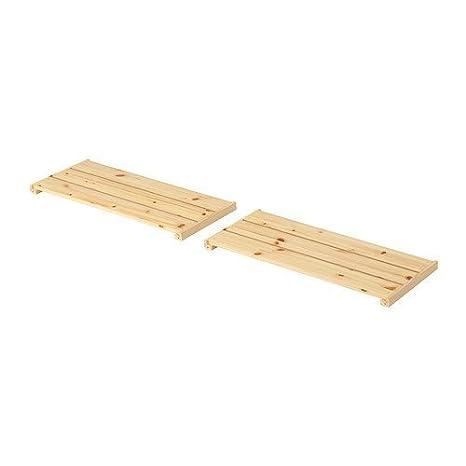 Ikea Mensole Legno.Ikea Gorm Mensola Legno Morbido 2 Pack 77 X 31 Cm