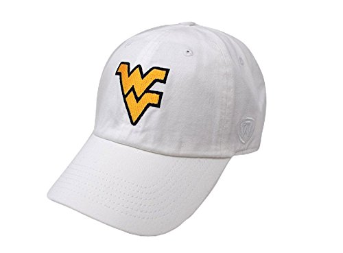 (Top of the World NCAA West Virginia Mountaineers Men's Adjustable Relaxed Fit White Icon Hat, White)