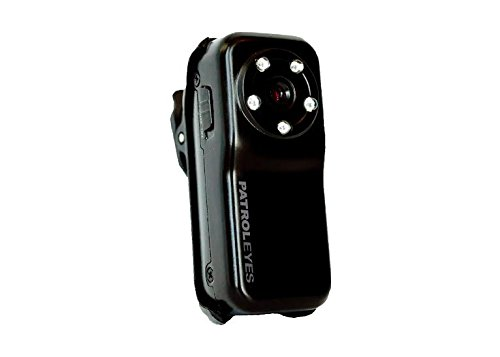 PatrolEyes Mini Metal HD 1080p Infrared LED Voice Activation Police Security Body Camera ()