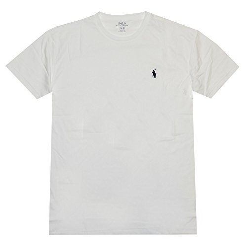 Polo Ralph Lauren Men Classic Fit Crew Neck Pony Logo T-Shirt (XXL, White)