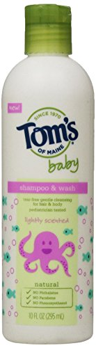 - Tom's of Maine Natural Baby Shampoo and Wash, Lightly Scented, 10 Ounce