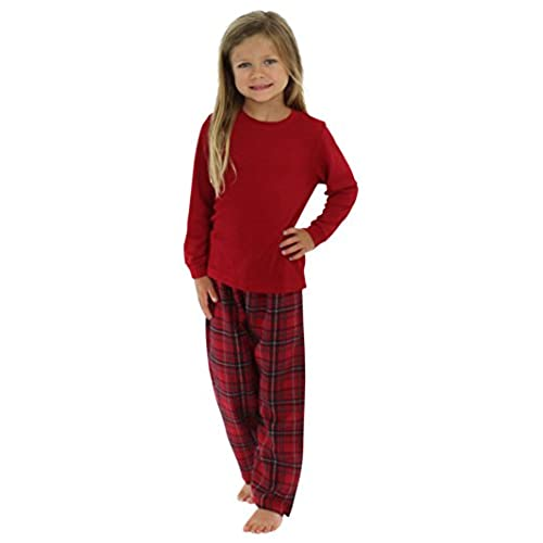 sleepytimepjs christmas family matching plaid thermal pajamas pjs sets for the family kids set stm385 pla 6