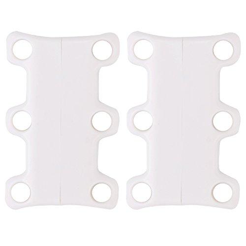 Soumit® 1 Par de Especial Novedad Moda Mini Casual Rápida Cordón Hebillas de Soporte con Cierre Magnético Verde Blanco