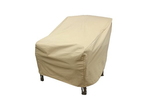 Modern Leisure 7465 Patio Chair Cover, Outdoor Furniture Cover, Waterproof, 34 D x 27 W x 31 H inches, Tan (Pack of 4)
