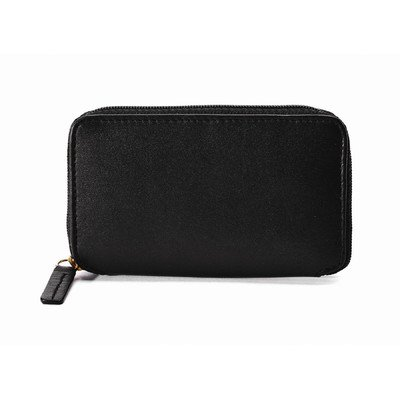 Cowhide Napa Leather Zip-Around Key Case Color: -