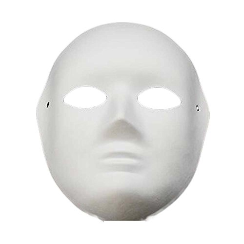 Diy Halloween The Purge Costume (10 Pcs White Mask Costume Mask Painting Full Face Mask DIY Paper Mask Blank)