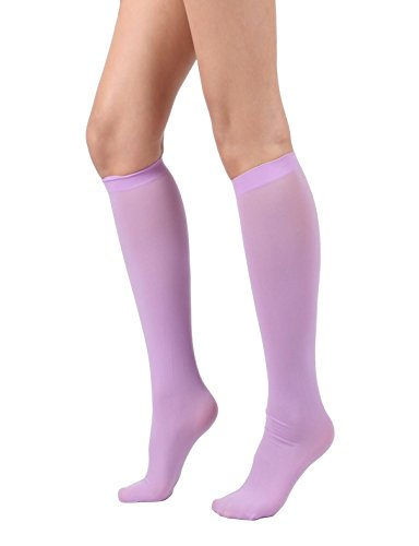 Women's Semi Opaque Knee High Trouser Sock 3pair / 6pair (One Size : XS to M, - Lavender Socks Womens