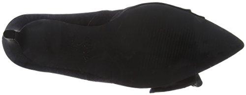 Foot Look Chiusa Wide Tacco Scarpe Black New black Punta Studdly Donna Col qUExASSdw