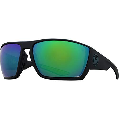 Sunglasses DRAGON DR CUTBACK H 2 O 008 MATTE BLACK H2O WITH GREEN ION ()
