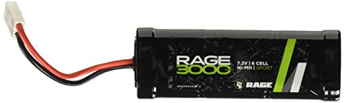 Rage RC NM3000-6 3000mAh 7.2V 6 Cell NiMH Sport Battery Pack, Standard Connector