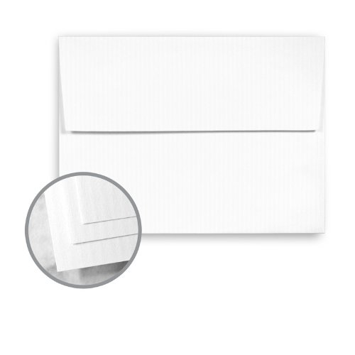 (CLASSIC COLUMNS Recycled 100 Bright White Envelopes - A2 (4 3/8 x 5 3/4) 80 lb Text Linear Embossed 100% Recycled 250 per Box)