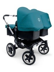 Bugaboo 2015 Donkey Twin Stroller Complete Set in Aluminum and Black (Donkey Twin)