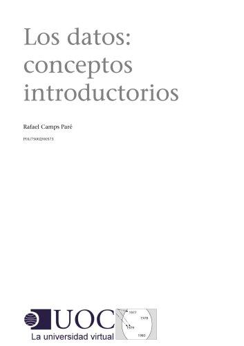 Los datos: conceptos introductorios (Spanish Edition)