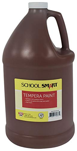 School Smart Tempera Paint, Gallon, Brown