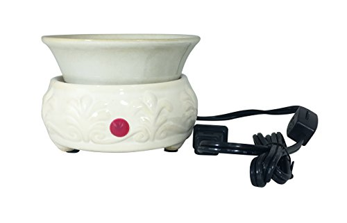 Our Own Candle Company Cream Ceramic Candle and Melt Warmer by Our Own Candle Company
