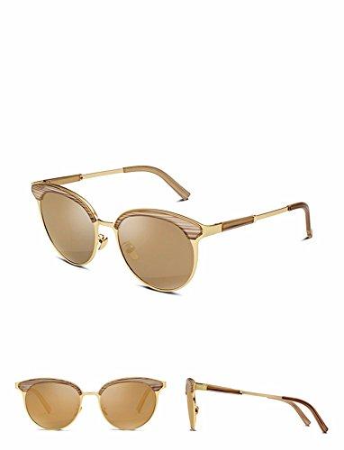 gafas de gafas mujeres sol Brown negro XIAOGEGE gafas Elegantes sol de personalizados 0nqXY5O
