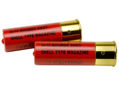 Multi Shot Airsoft Shotgun Shell Cartridges, 2ct