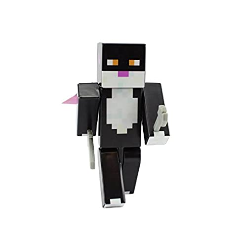 Black Cat Action Figure Toy, 4 Inch Custom Series Figurines by EnderToys (Mini Mine Craft Characters)
