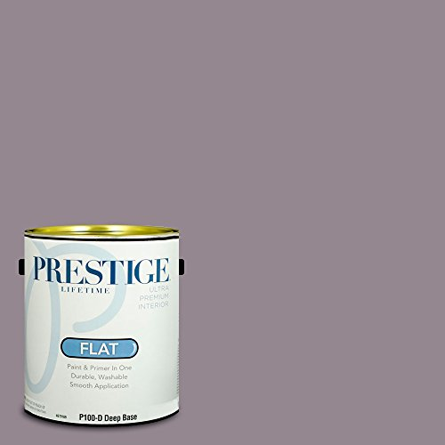 Prestige Paints P100-D-MQ1-32 Interior Paint and Primer in One, 1-Gallon, Flat, Comparable Match of Behr Cinema Screen, 1 Gallon, B1