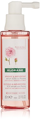 Klorane SOS Serum with Peony - Scalp Treatment Spray, Immediate Soothing Relief for Dry Itchy Flaky Scalp, pH Balanced