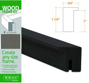 Nielsen Bainbridge Wood Frame Kits black 30 in. FW1603041
