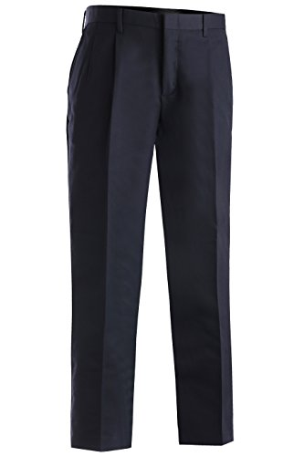 Edwards Garment Men's Tall Business Casual Chino Pleated Pant, Navy, 40 ()