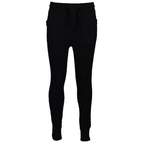 Fresh Brand Men's Jogger Pants - Jogger Sweatpants with Zippered Pockets (XX-Large, Black)