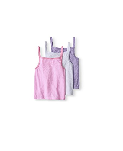 irls' CAMI Layering Tanks, 3 Pack,Size 4T5T(Pink/White/Purple) ()