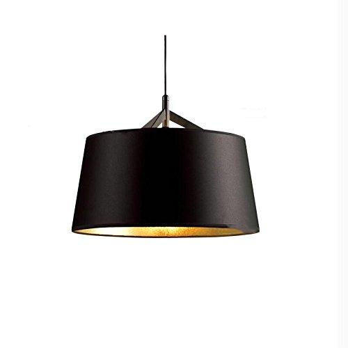 23' Chandelier (NASN Black with Gold Fabric Shade Pendant Lights Chandelier 1 Light D45cm/D60cm BP9099 Kitchen Lights Bedroom (D60cm))