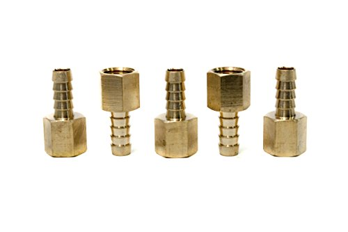 LTWFITTING Brass Fitting Coupler 5/16
