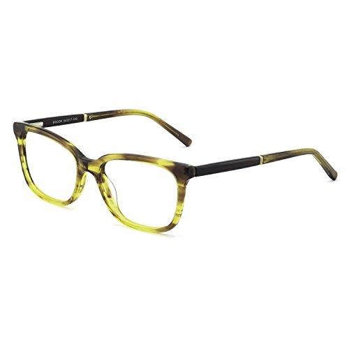 OCCI CHIARI Womens Rectangle Stylish Eyewear Frame Non-Prescription Clear Eyeglasses (B-Green ()