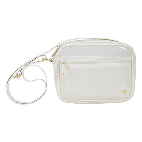 Stephanie Johnson Miami Camera Crossbody Bag, (White Camera Bag)