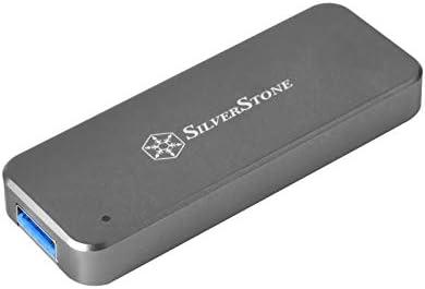 Silverstone SST-MS09C-MINI - Carcasa Externa para SSD SATA M.2, USB 3.1 Gen 2, acepta SSD SATA M.2 2242, Gris Marengo