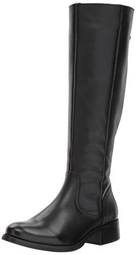 Steve Madden Women's Lover Western Boot, Black Leather, 6.5 M US